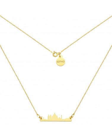 Bransoletka z pereł SWAROVSKI® CRYSTAL w kolorze Peach ze złotą muszelką