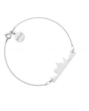 Bransoletka z pereł SWAROVSKI® CRYSTAL w kolorze Pearlescent ze srebrną muszelką
