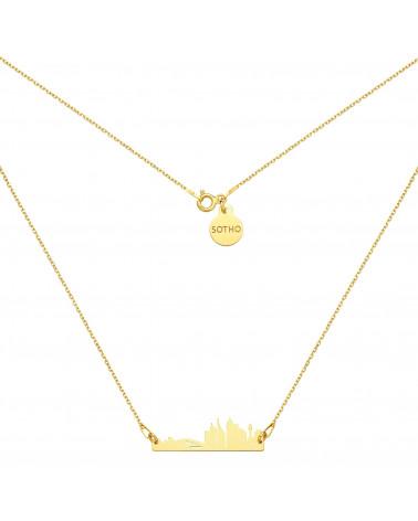 Bransoletka z pereł SWAROVSKI® CRYSTAL w kolorze Petrol ze złotą muszelką