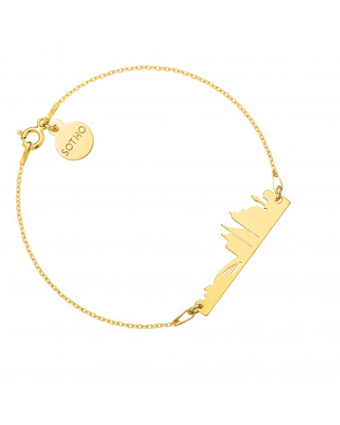 Bransoletka z pereł SWAROVSKI® CRYSTAL w kolorze Rosaline ze złotą muszelką