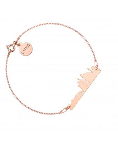 Bransoletka z pereł SWAROVSKI® CRYSTAL w kolorze Rosaline ze srebrną muszelką