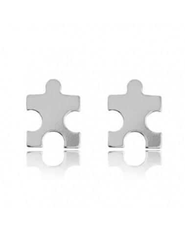 Srebrne kolczyki puzzle