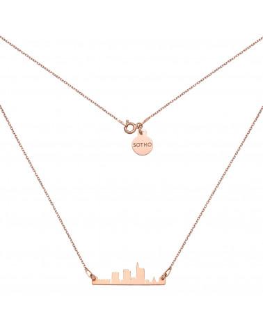 Naszyjnik z różowego złota Mediolan