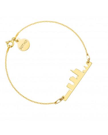 Złota bransoletka Mediolan