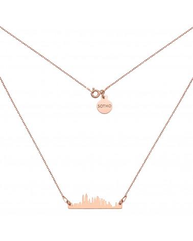 Naszyjnik z różowego złota Nowy Jork