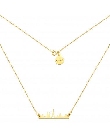 Złoty naszyjnik Paryż