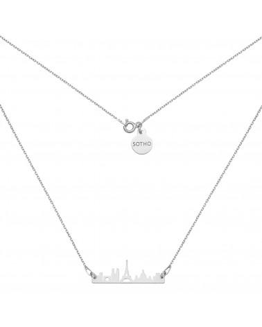 Srebrny naszyjnik Paryż