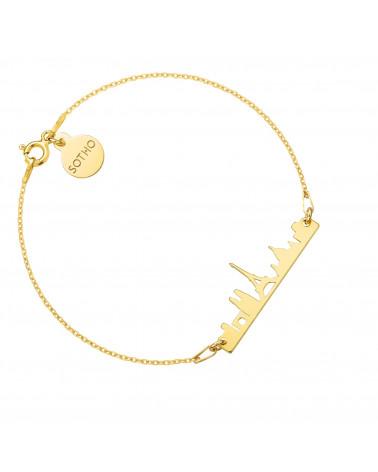 Złota bransoletka Paryż