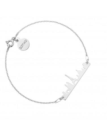 Srebrna bransoletka Paryż