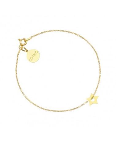 Złota bransoletka z małą gwiazdką