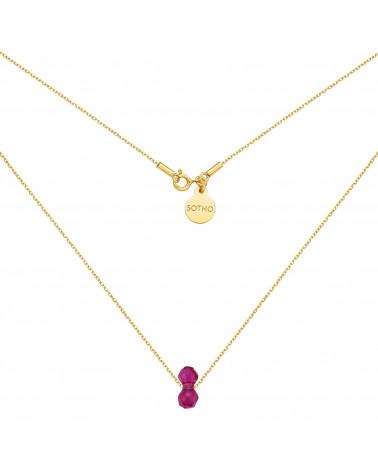 Naszyjnik z różowego złota z muszelką i perłą SWAROVSKI® CRYSTAL w kolorze Pastel Green