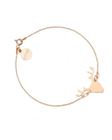 Bransoletka z jeleniem z różowego złota