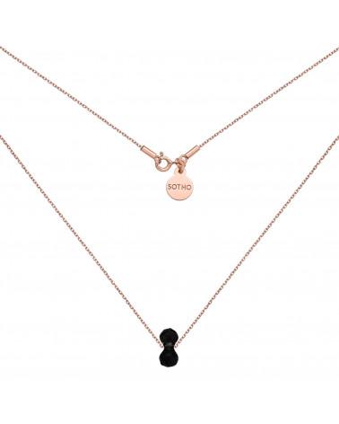Naszyjnik z różowego złota z kryształowym ciężarkiem SWAROVSKI® CRYSTAL