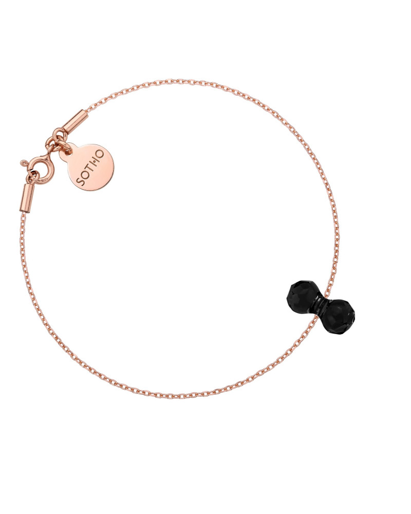 Bransoletka z różowego złota z kryształowym ciężarkiem SWAROVSKI® CRYSTAL
