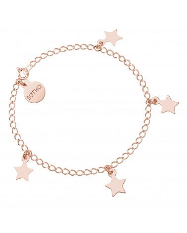 Bransoletka z gwiazdkami z różowego złota