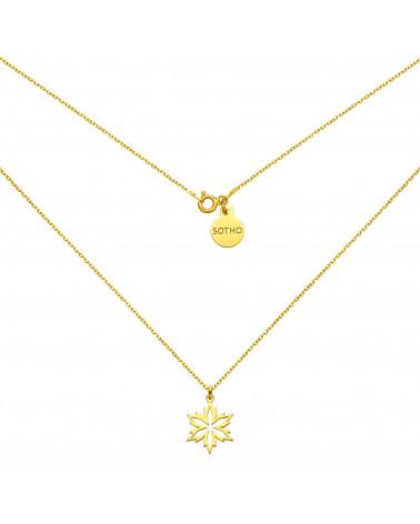 Złoty naszyjnik ze śnieżynką