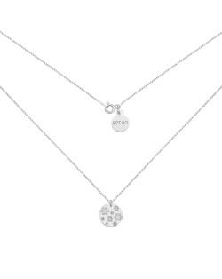 Pierścionek z różowego złota z karmą i kryształkiem Blue Zircon  SWAROVSKI® CRYSTAL