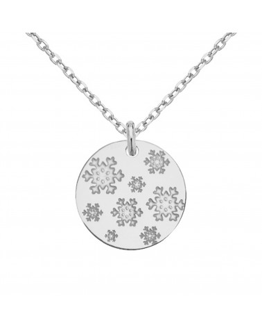 Srebrny pierścionek z karmą i kryształkiem Blue Zircon SWAROVSKI® CRYSTAL