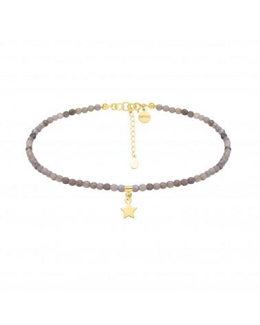 Złoty pierścionek z kuleczką i perłą Powder Almond SWAROVSKI® CRYSTAL