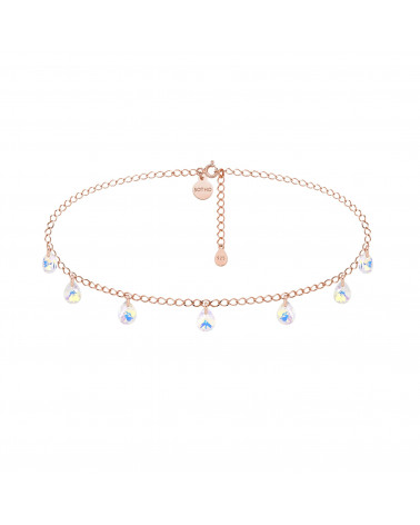 Choker z różowego złota opalizującymi kryształami SWAROVSKI® CRYSTAL