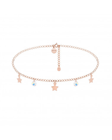 Choker z gwiazdkami z różowego złota i kryształami SWAROVSKI® CRYSTAL