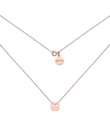 Złoty pierścionek z karmą i kryształkiem Light Peach SWAROVSKI® CRYSTAL