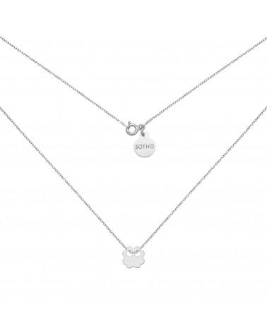 Pierścionek z różowego złota z karmą i kryształkiem Light Peach SWAROVSKI® CRYSTAL