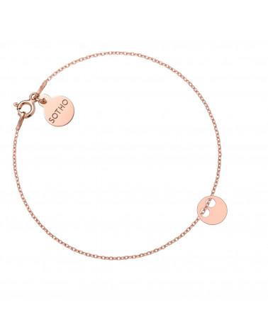 Złoty pierścionek z karmą i kryształkiem Vintage Rose SWAROVSKI® CRYSTAL