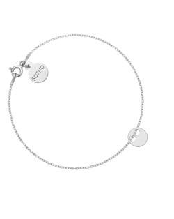 Srebrny pierścionek z karmą i kryształkiem Vintage Rose SWAROVSKI® CRYSTAL