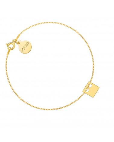 Złota bransoletka z kwadratem