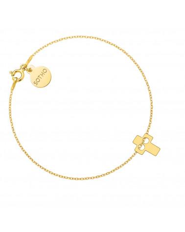 Złota bransoletka z krzyżykiem