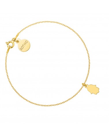 Złota bransoletka z Ręką Fatimy