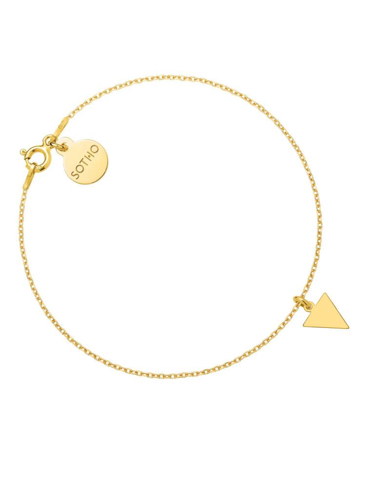 Złota bransoletka z trójkątem