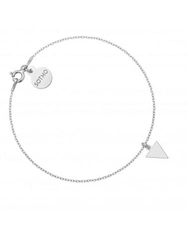 Srebrny pierścionek z kuleczką i perłą White SWAROVSKI® CRYSTAL