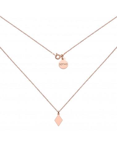 Naszyjnik z różowego złota z rombem