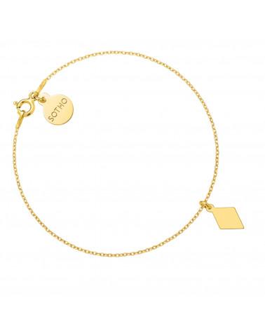 Złota bransoletka z rombem