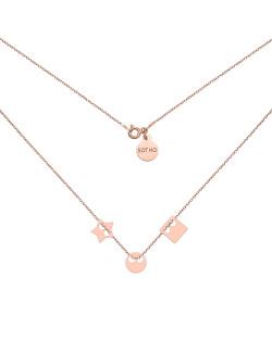 Pierścionek z różowego złota z kuleczką i perłą Pearlescent SWAROVSKI CRYSTAL