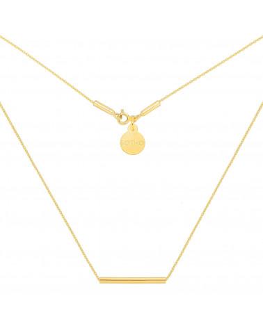 Złoty naszyjnik z rureczką