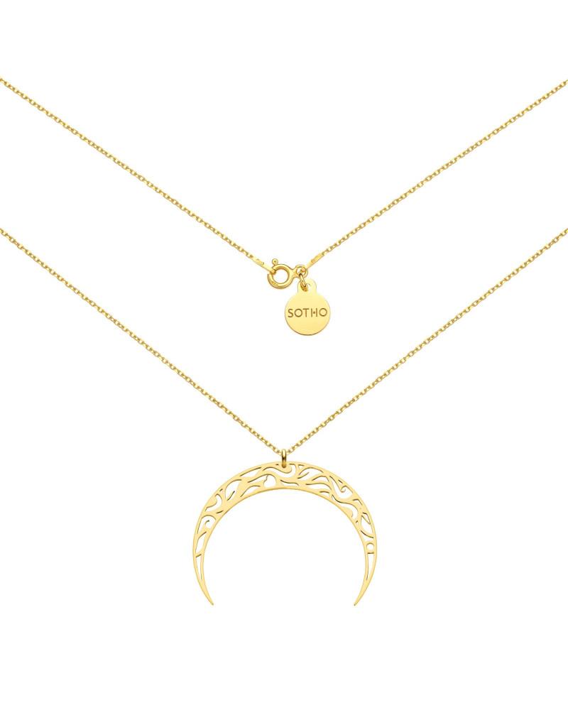 Złoty naszyjnik z księżycem
