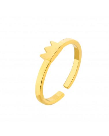 Złoty pierścionek z koroną