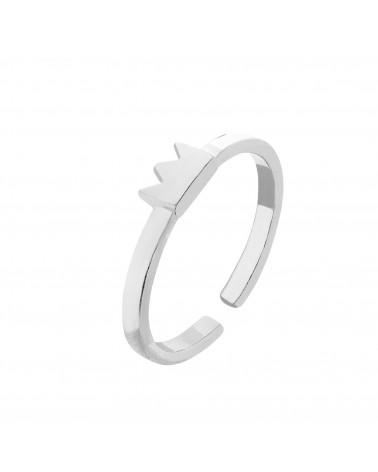 Srebrny pierścionek z koroną