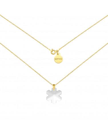Złoty naszyjnik ze śnieżynką SWAROVSKI® CRYSTAL