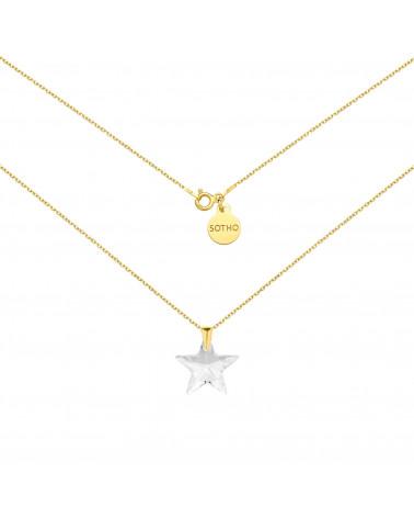 Złoty naszyjnik z gwiazdą SWAROVSKI® CRYSTAL