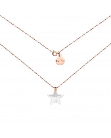 Naszyjnik z różowego złota z gwiazdą SWAROVSKI® CRYSTAL
