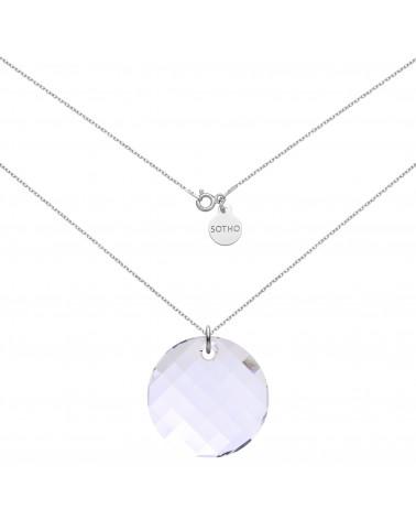 Srebrny naszyjnik z okrągłym kryształem SWAROVSKI® CRYSTAL